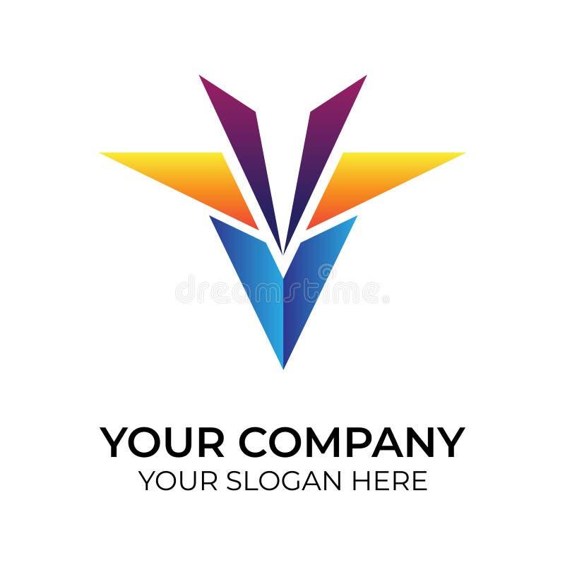 Abstrakcjonistyczny kolorowy logo royalty ilustracja