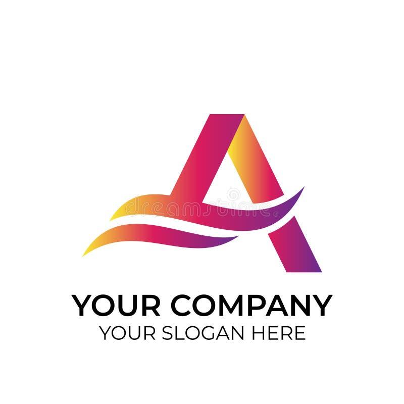 Abstrakcjonistyczny kolorowy logo ilustracja wektor
