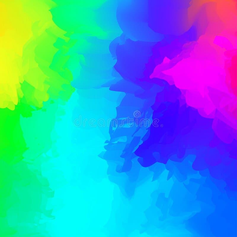 Abstrakcjonistyczny kolorowy mieszany dla tła, tęczy akwareli plamy maluje dla karcianej sztandar reklamy, sztuka maluje błękit b royalty ilustracja