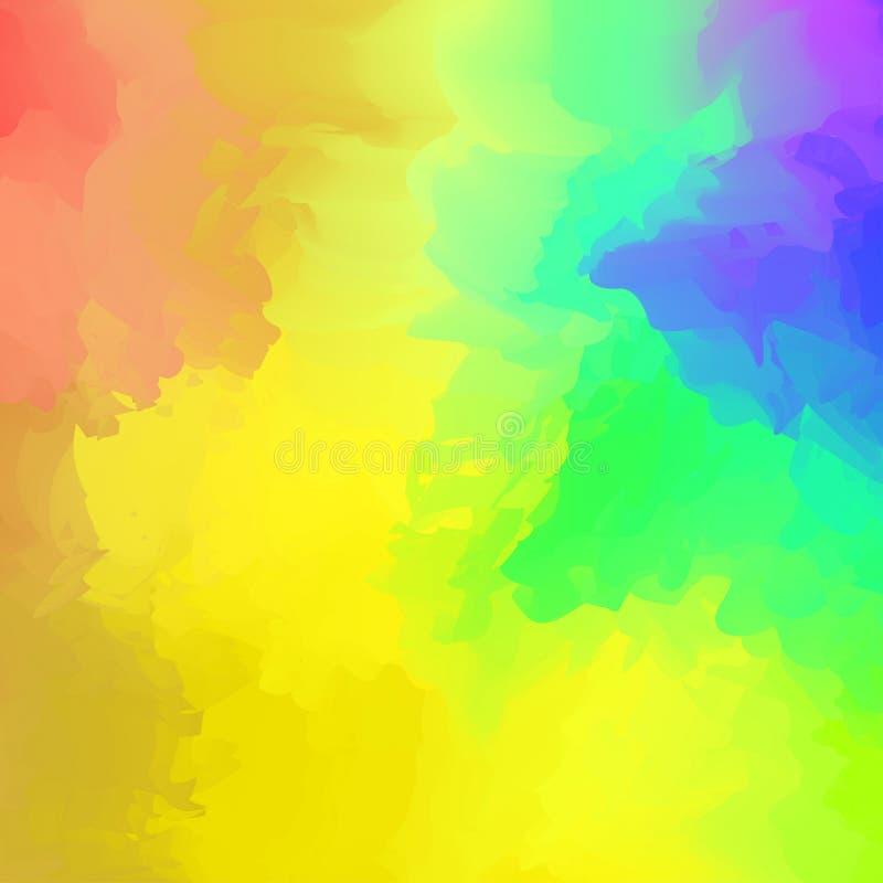 Abstrakcjonistyczny kolorowy mieszany dla t?a, t?czy akwareli plamy maluje dla karcianej sztandar reklamy, sztuka obrazu kolor ? ilustracji