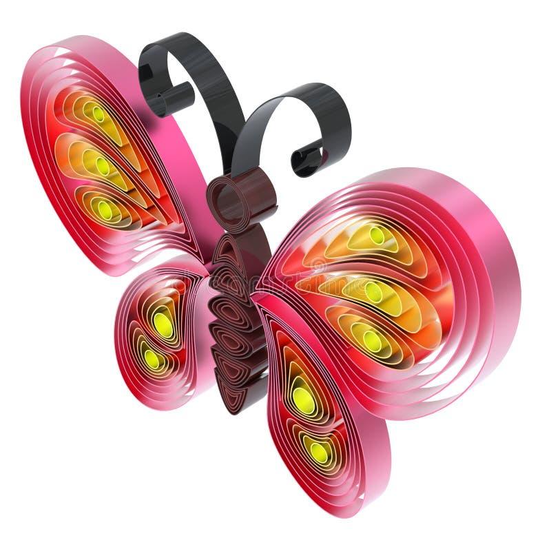 Abstrakcjonistyczny kolorowy motyl ilustracja wektor