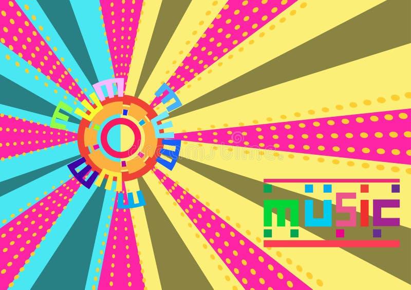 Abstrakcjonistyczny Kolorowy muzyczny tło jest dystrybucji linią wektor ilustracja ilustracja wektor