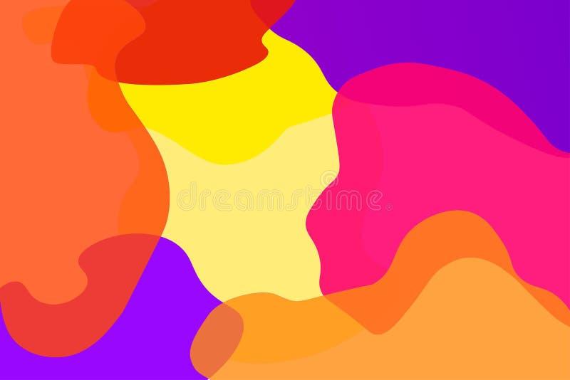 Abstrakcjonistyczny kolorowy narzuta wektoru tło zdjęcie royalty free