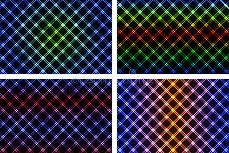 Abstrakcjonistyczny kolorowy neonowy tło ilustracja wektor
