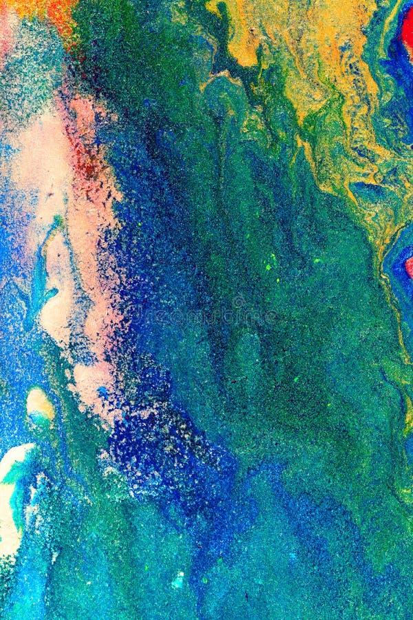 Abstrakcjonistyczny kolorowy obraz obraz royalty free
