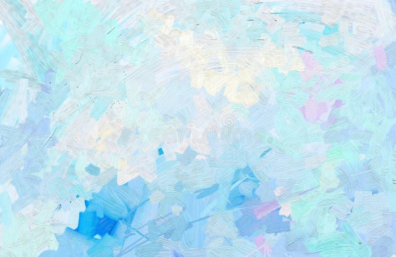 Abstrakcjonistyczny kolorowy obraz olejny na brezentowej teksturze ilustracja wektor