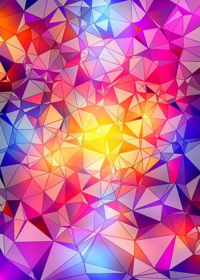 Abstrakcjonistyczny kolorowy poligonalny tło royalty ilustracja