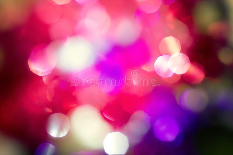 Abstrakcjonistyczny kolorowy retro i rocznik kolor bokeh oświetlenie w p obraz stock