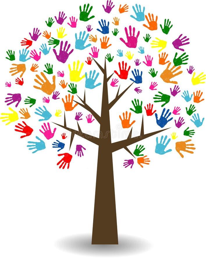 Abstrakcjonistyczny kolorowy Rodzinny drzewo royalty ilustracja