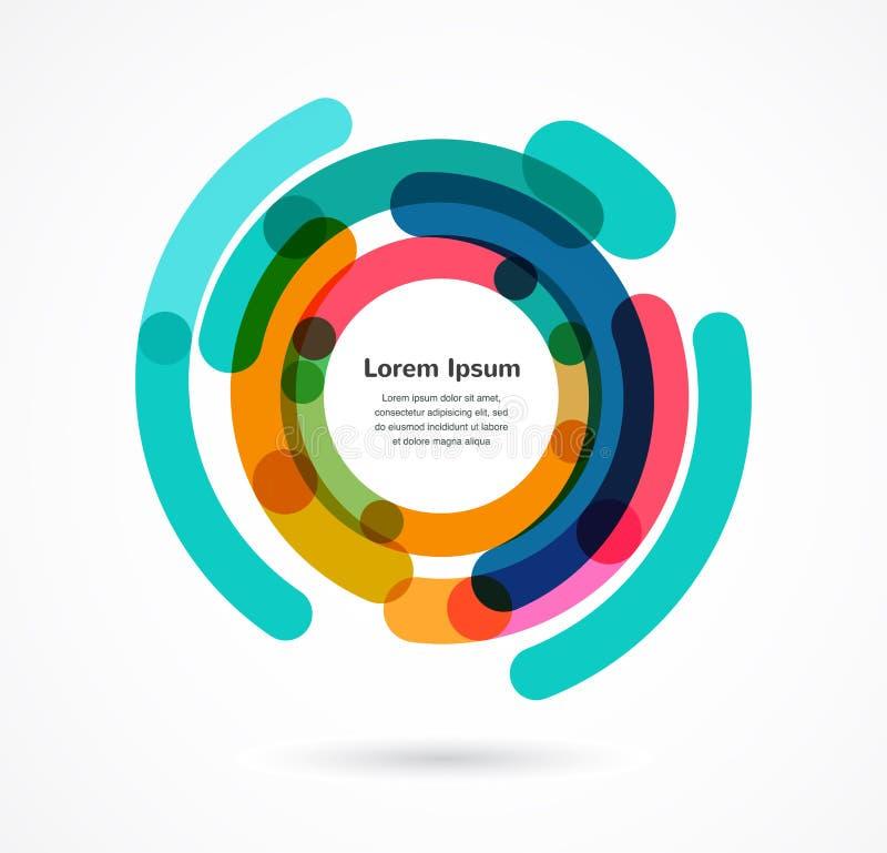 Abstrakcjonistyczny kolorowy tło infographic ilustracja wektor
