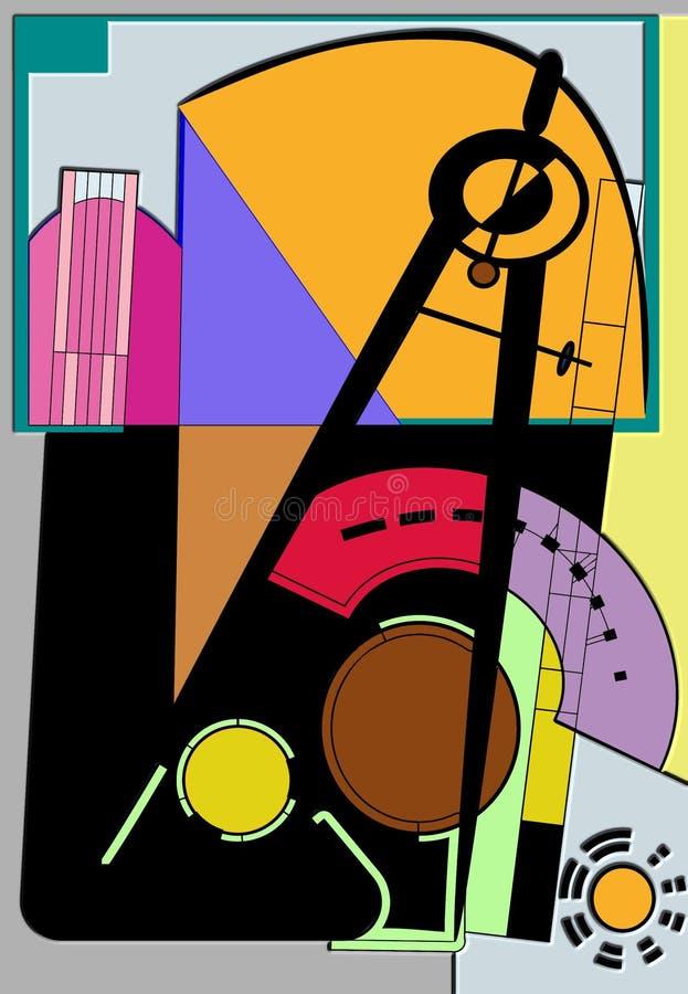 Abstrakcjonistyczny kolorowy tło, kompas dla rysować fotografia stock