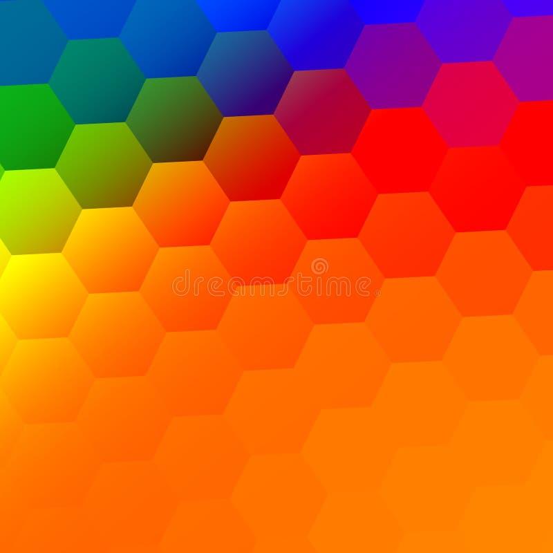 Abstrakcjonistyczny Kolorowy tło - rewolucjonistki Zielony błękit ilustracji