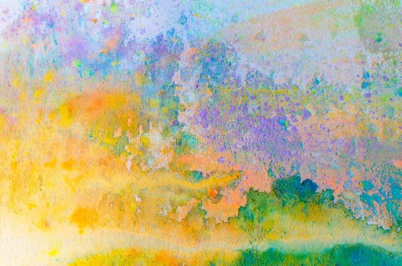 Abstrakcjonistyczny kolorowy tło z holi farby proszkiem fotografia royalty free