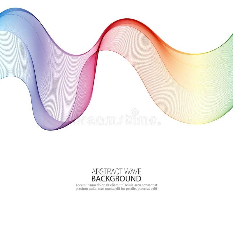 Abstrakcjonistyczny kolorowy t?o z fal?, ilustracja, wektor eps10 ilustracja wektor