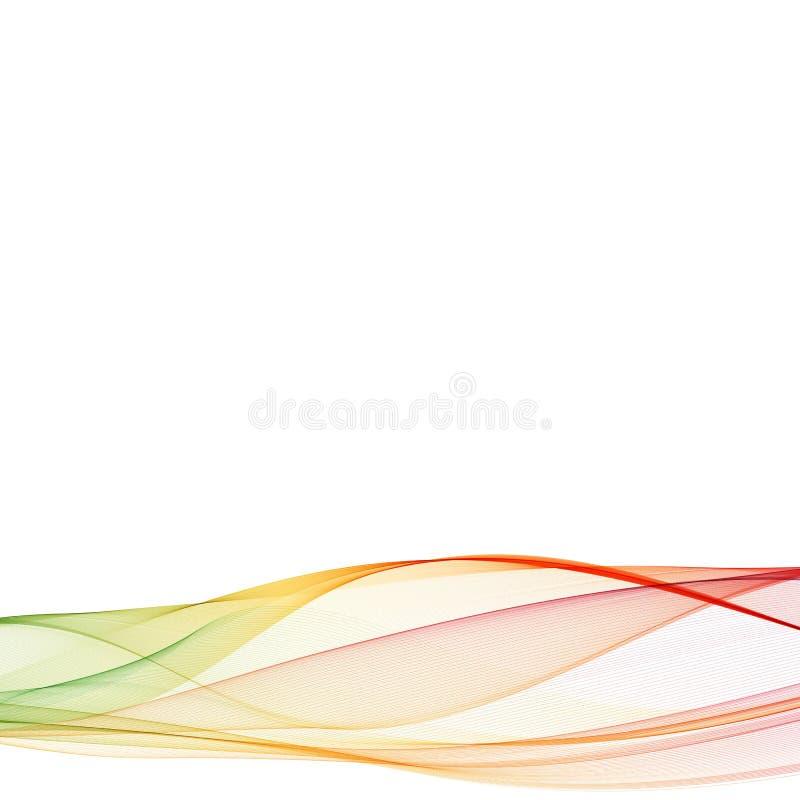 Abstrakcjonistyczny kolorowy t?o z fala, ilustracja, wektor ilustracja wektor