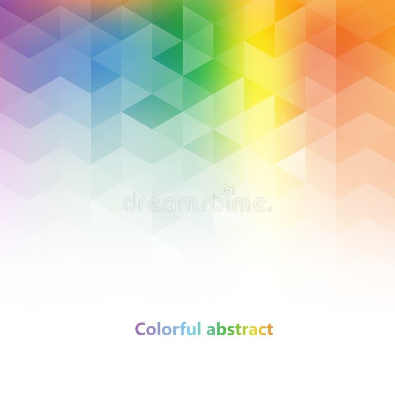 Abstrakcjonistyczny kolorowy triangulacyjny tło ilustracja wektor