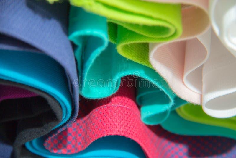 Abstrakcjonistyczny kolorowy ubrania tło fotografia royalty free