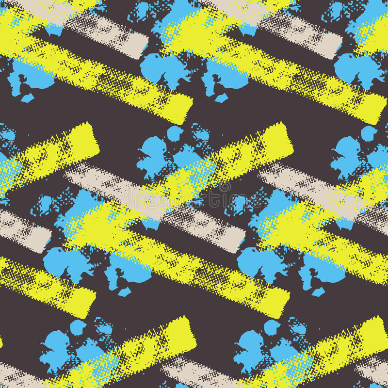 Abstrakcjonistyczny kolorowy wektorowy bezszwowy wzór ilustracji