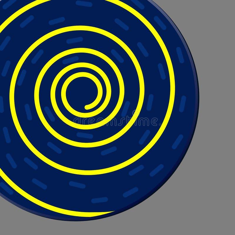 Abstrakcjonistyczny kolorowy wektorowy tło z błękitnym okręgu kształtem ilustracja wektor