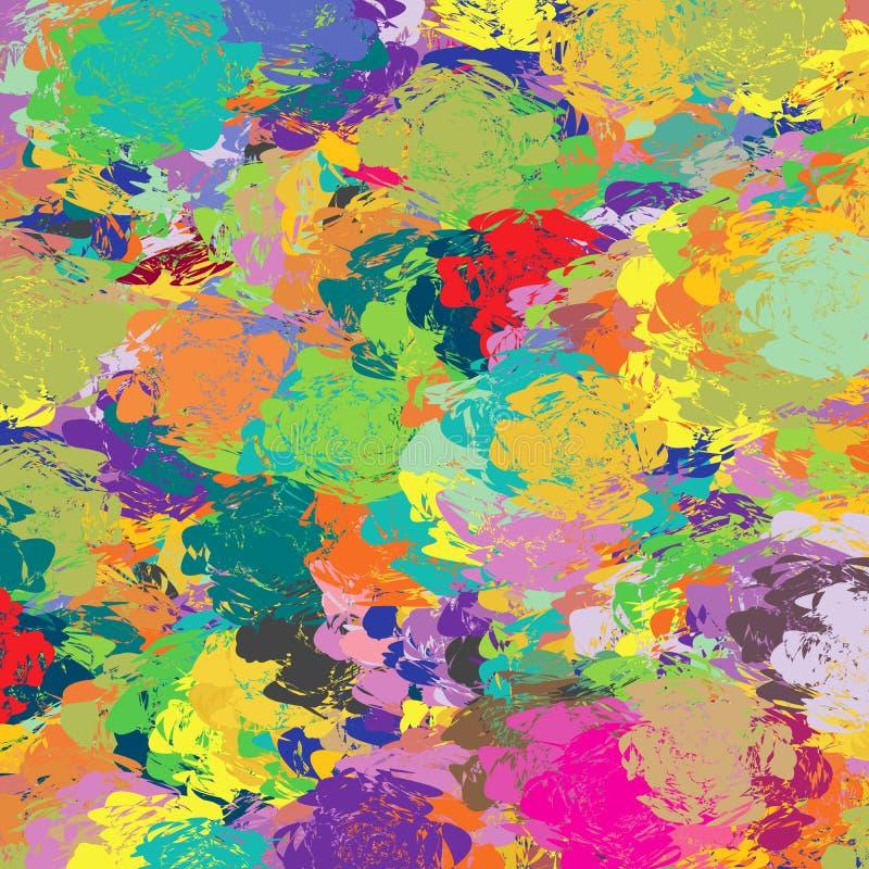 Abstrakcjonistyczny Kolorowy widmo artysta Maluje Pallete deski tła wzoru teksturę royalty ilustracja