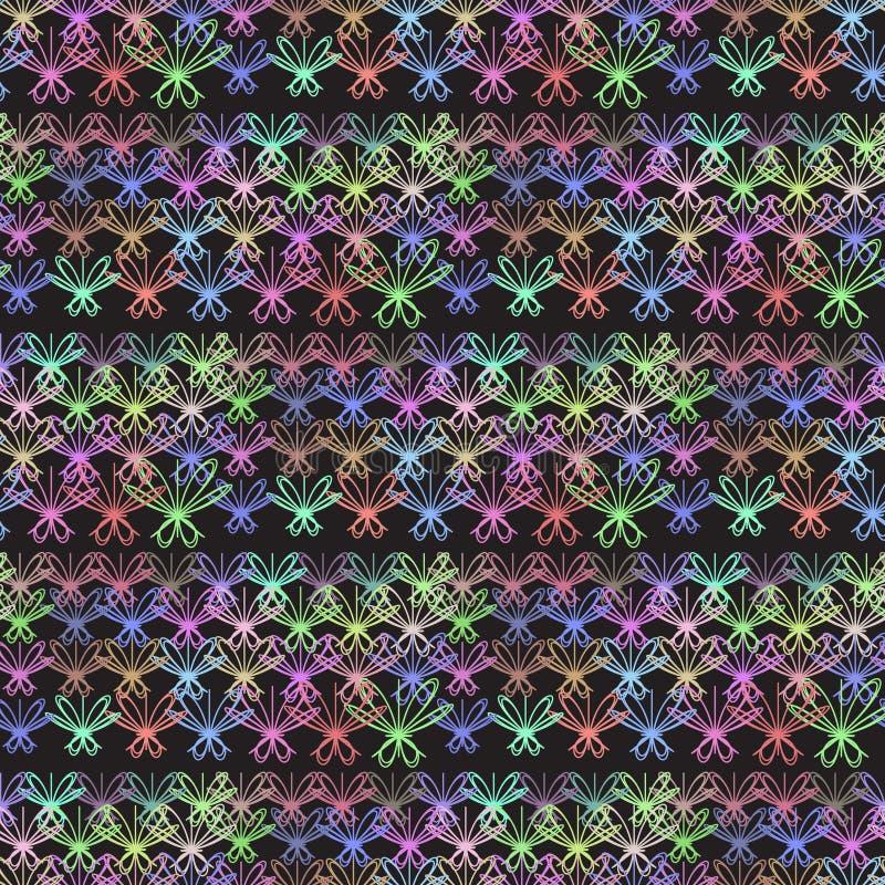 abstrakcjonistyczny kolorowy wzór ilustracja wektor