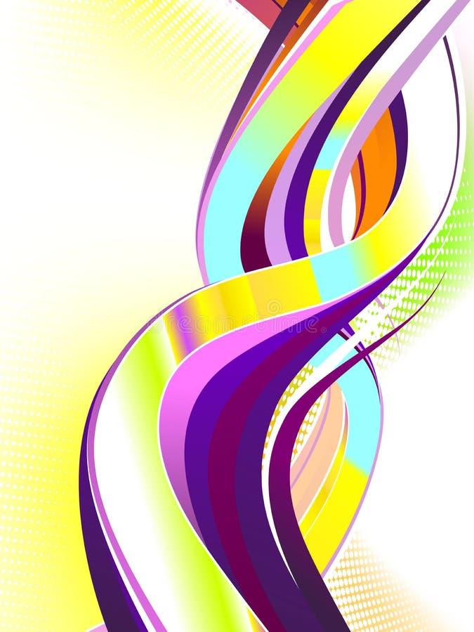 abstrakcjonistyczny kolorowy zawijas royalty ilustracja
