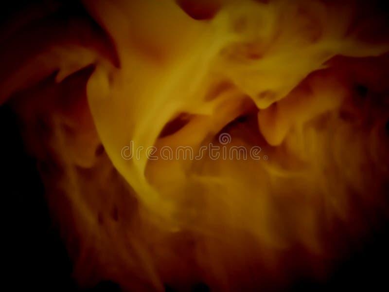 Abstrakcjonistyczny koloru żółtego dymu tło ilustracja wektor