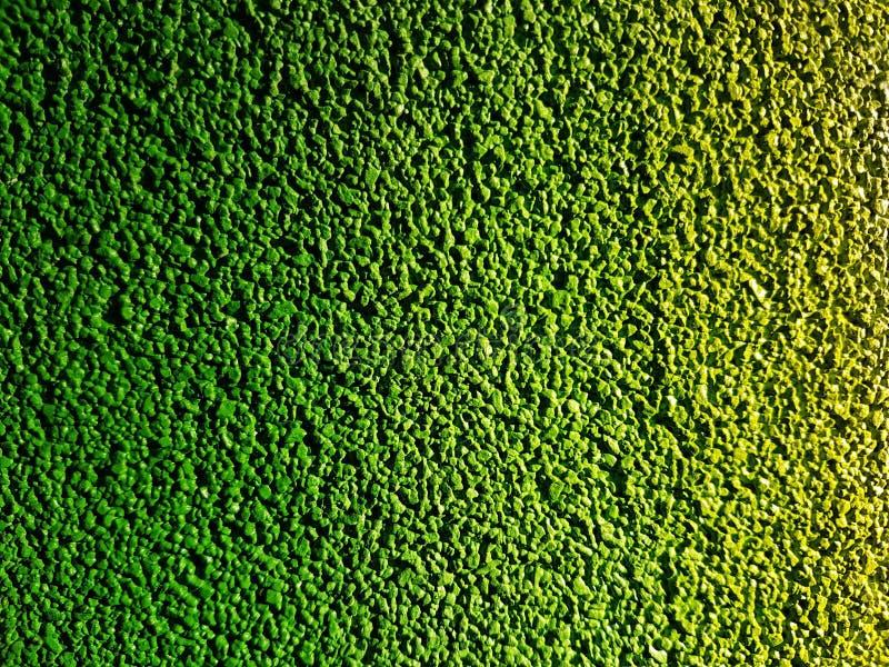 Abstrakcjonistyczny koloru obraz na betonowego bloku tła błękicie, zieleni, kolor żółty Gładkiej teksturze dla projekta i dekorac fotografia stock