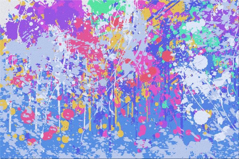Abstrakcjonistyczny koloru Splatter tło zdjęcia stock