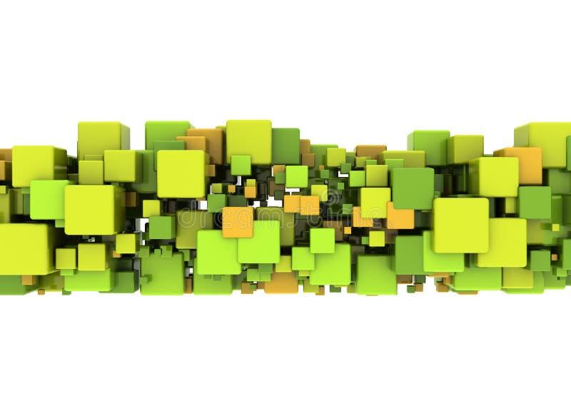 abstrakcjonistyczny koloru sześcianów kształt ilustracji