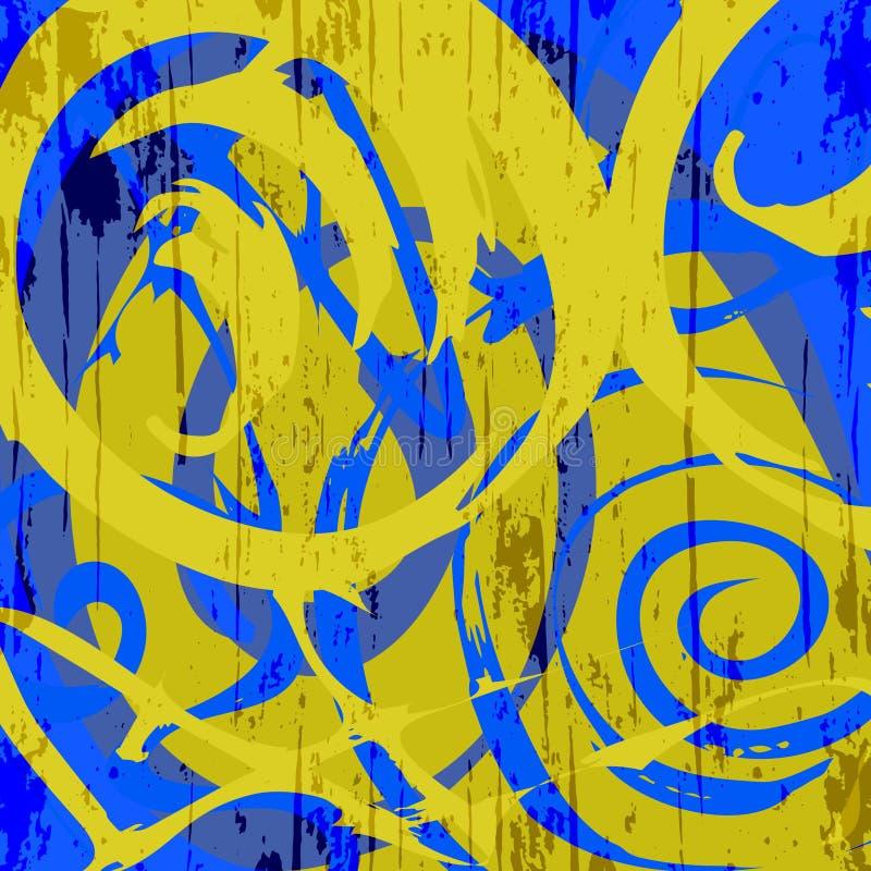 Abstrakcjonistyczny koloru wz?r w graffiti projektuje ilo?ci wektorow? ilustracj? dla tw?j projekta royalty ilustracja