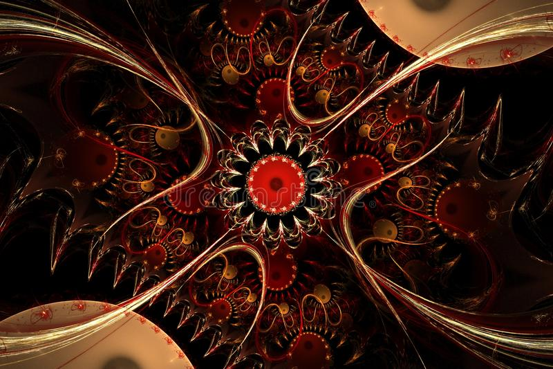 Abstrakcjonistyczny komputer wytwarzający fractal projekt ilustracji