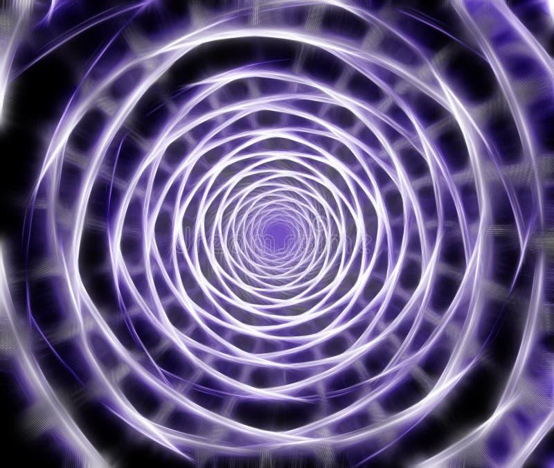 Abstrakcjonistyczny komputer wytwarzający fractal spirali wizerunek ilustracji
