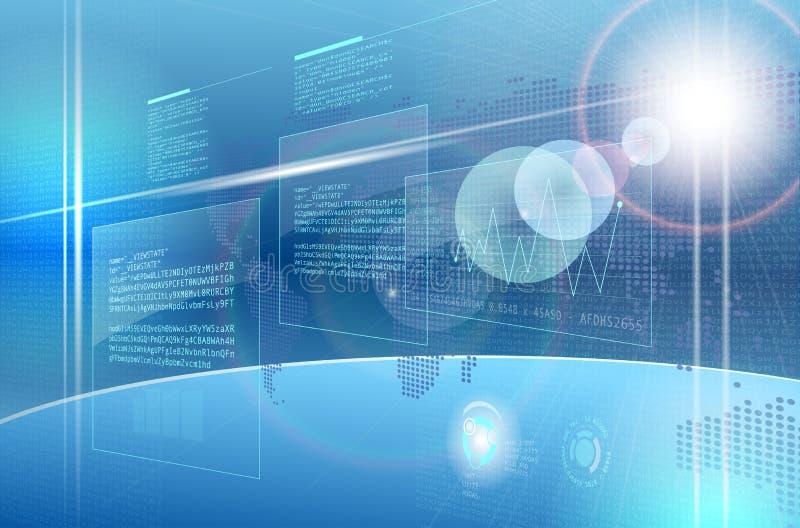 Abstrakcjonistyczny komputerowy przyszłościowy interfejs royalty ilustracja
