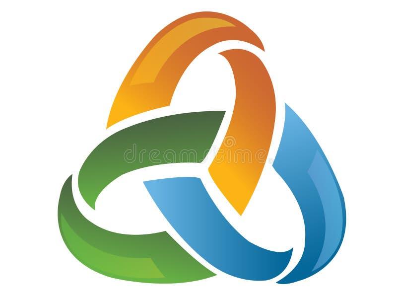 abstrakcjonistyczny kreatywnie logo royalty ilustracja