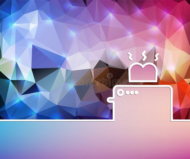 Abstrakcjonistyczny Kreatywnie pojęcia tło Dla sieci i wiszącej ozdoby zastosowań, ilustracyjny szablonu projekt, biznesowy infog royalty ilustracja