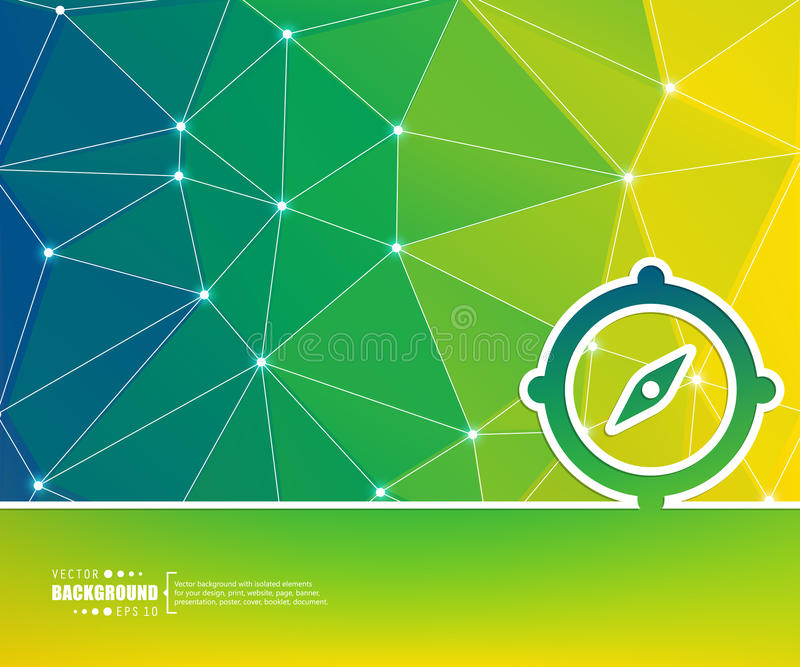Abstrakcjonistyczny Kreatywnie pojęcie wektoru tło Dla sieci i wiszącej ozdoby zastosowań, ilustracyjny szablonu projekt, biznes ilustracja wektor
