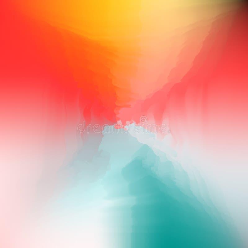Abstrakcjonistyczny Kreatywnie Rzadkopłynny stubarwny zamazany tło royalty ilustracja