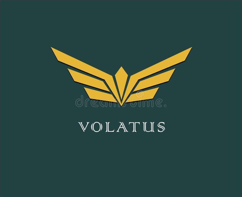 Abstrakcjonistyczny kwiat, skrzydło wektoru logo Dostawa, biznes, ładunek, sukces, pieniądze, transakcja, kontrakt, drużyna, wspó ilustracja wektor