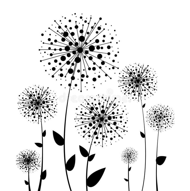 Download Abstrakcjonistyczny Kwiatu Czerni Dandelion Ilustracja Wektor - Ilustracja złożonej z kwiat, grunge: 28956763