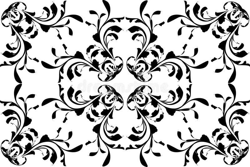 Abstrakcjonistyczny kwiatu wzór royalty ilustracja