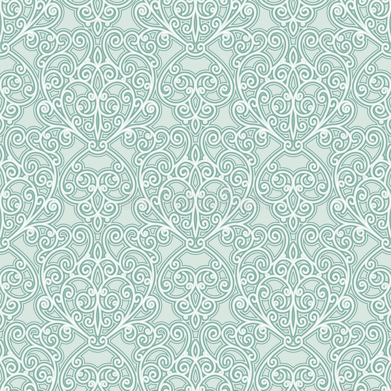 Abstrakcjonistyczny kwiecisty wzór ilustracja wektor