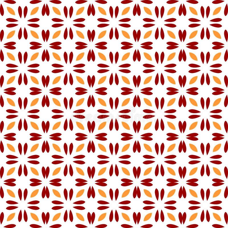 abstrakcjonistyczny kwiecisty deseniowy bezszwowy symetria nowożytny styl royalty ilustracja