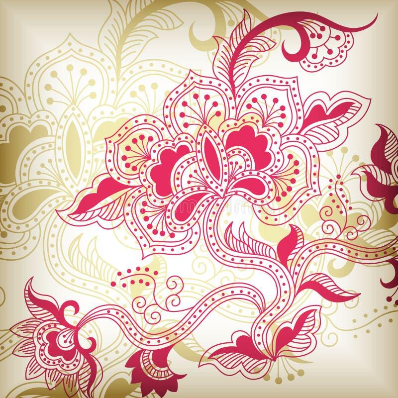 abstrakcjonistyczny kwiecisty h ilustracji