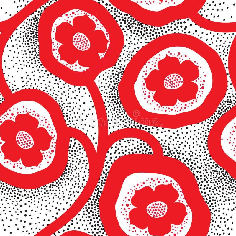 Abstrakcjonistyczny kwiecisty ornamentacyjny wz?r bezszwowy t?o kwiat royalty ilustracja