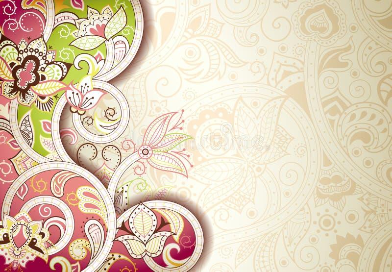 Abstrakcjonistyczny Kwiecisty tło ilustracji