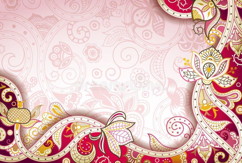Abstrakcjonistyczny Kwiecisty tło royalty ilustracja