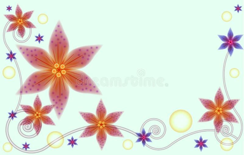 Abstrakcjonistyczny kwiecisty tło dla kartka z pozdrowieniami ilustracja wektor