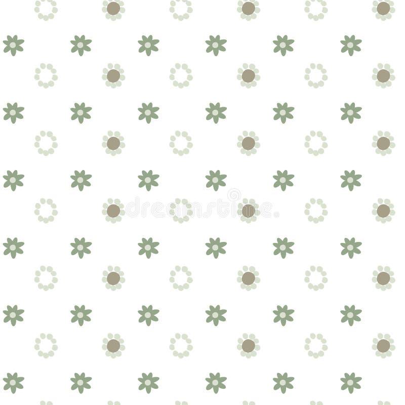 Abstrakcjonistyczny kwiecisty wektorowy bezszwowy wzór, prosty pastelowego koloru tło dla twój projekta royalty ilustracja