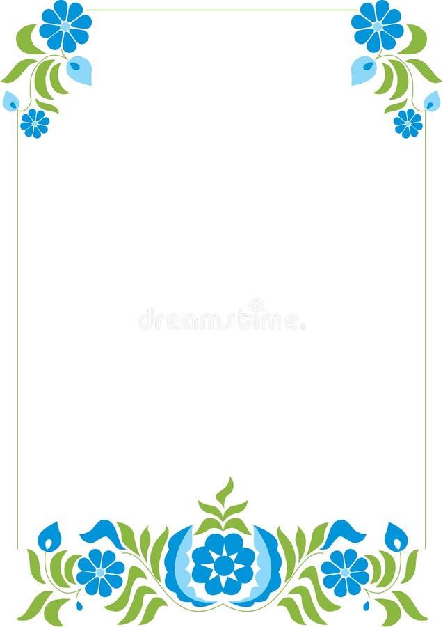 Abstrakcjonistyczny kwiecisty wzór royalty ilustracja